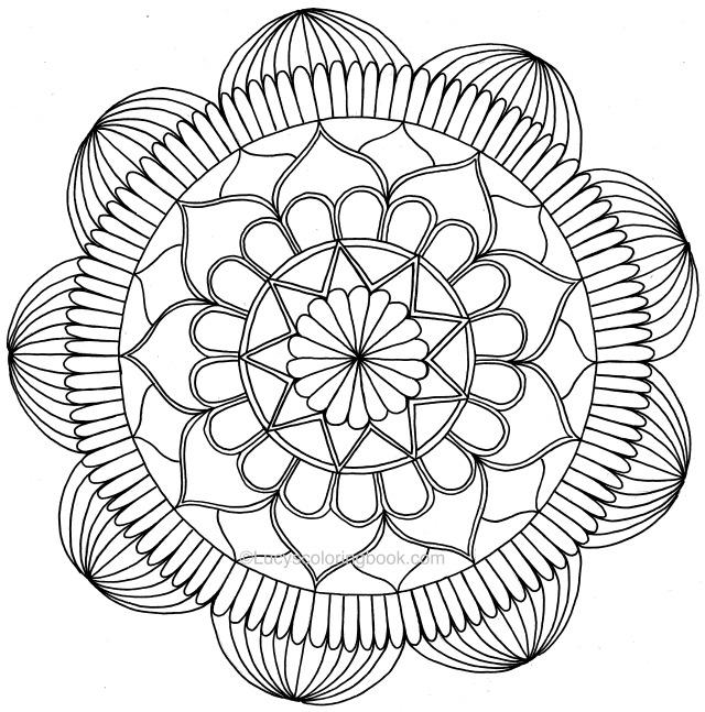 Mandala For Coloring 16 May 2017