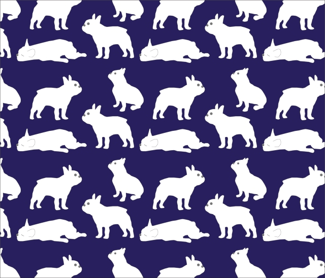 Blue Frenchie Pattern-04