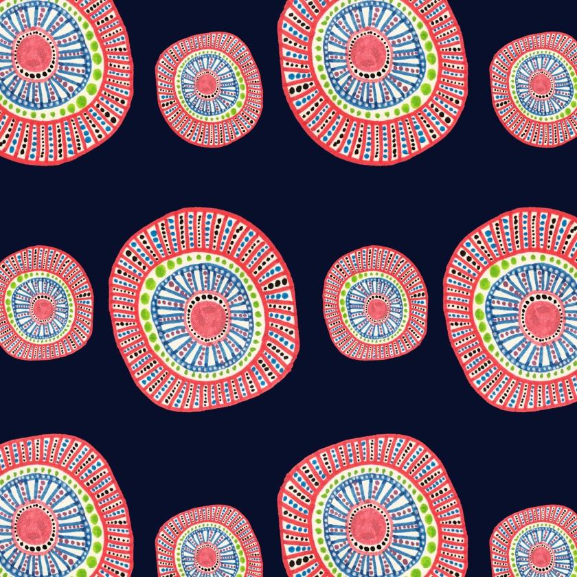 Dotty Circles Red